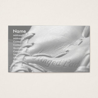 business card baseball glove