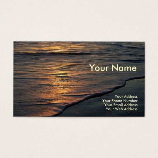 Business Card Beach Sunset