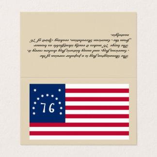 """Business Card Bennington Flag - """"Tent Style Card"""""""