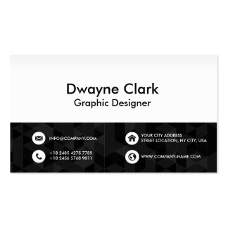 Business Card Black Polygonal Front and Back