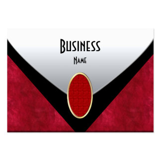Business Card Black Red Silver Leather Purse