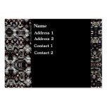 Business Card Black Silver Metal Business Cards