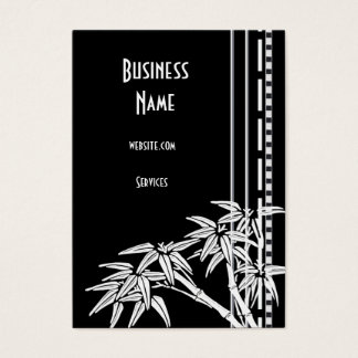 Business Card Black White Asian Bamboo