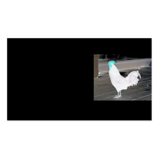 Business card - Black with white rooster
