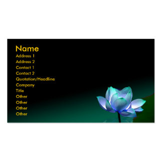 Business card, Blue lotus and buddha