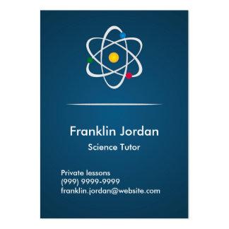 Business card blue particular professor