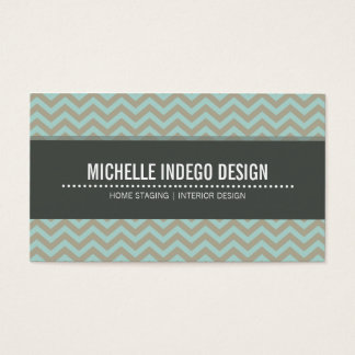 BUSINESS CARD bold bright chevron pattern