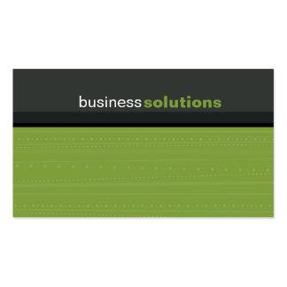 BUSINESS CARD bold modern linear leaf green grey