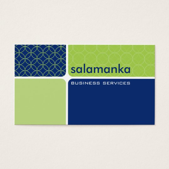 BUSINESS CARD bold modern segment