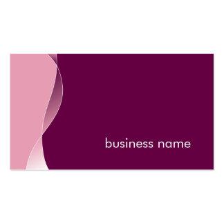 BUSINESS CARD bold modern swish plum mulberry pink