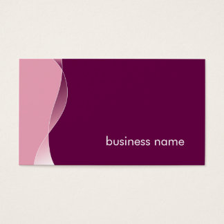 BUSINESS CARD bold modern swish plum mulberry pink