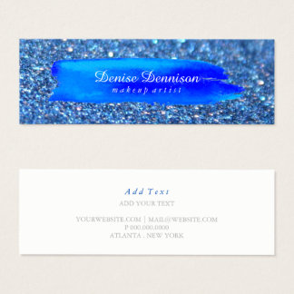Business Card -  Brushstroke Glitter Blue