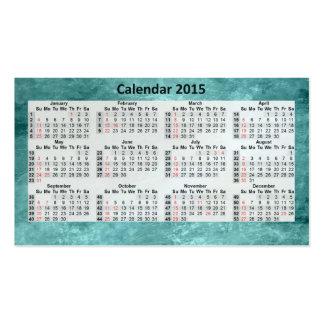 Business Card Calendar 2015