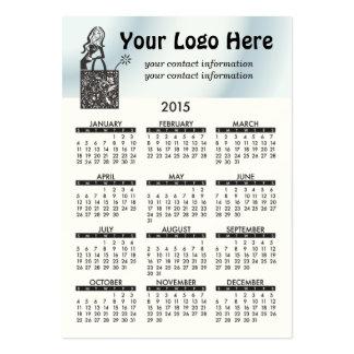 Business Card Calendar Shop Girl