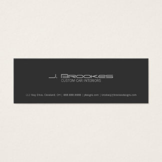 Business Card | Car Type