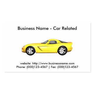 Business Card: Cars / Automotive Pack Of Standard Business Cards