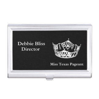 Business Card Case-Pageant Crown Business Card Holder