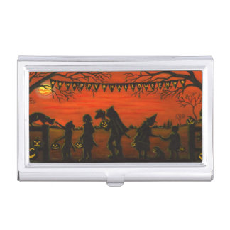 Business card case with Halloween theme