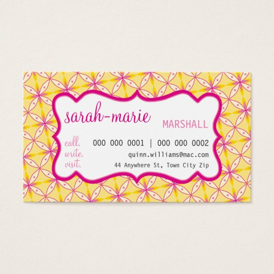 BUSINESS CARD :: casual chic 3 L