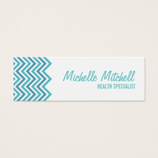 Business Card | Chevron |teal