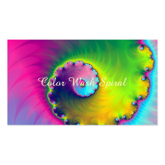 Business Card Color Wash Spiral Pack Of Standard Business Cards