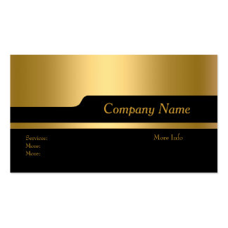 Business Card Company Elegant Black Gold Updated