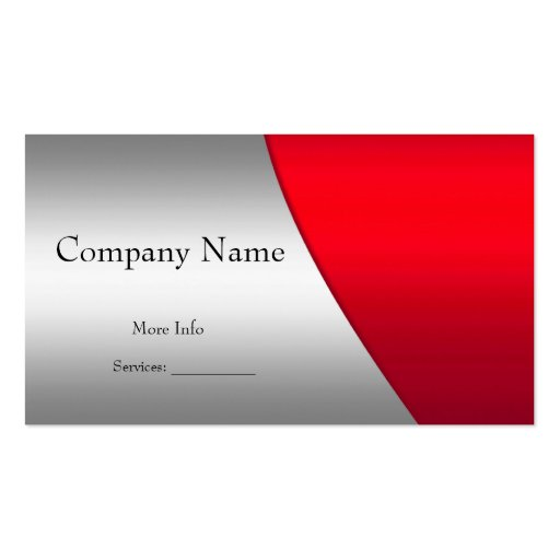 Business Card Company Elegant Red Silver Business Card