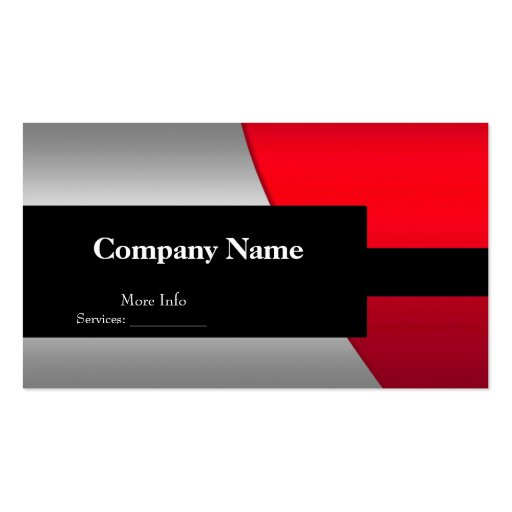 Business Card Company Elegant Red Silver Black Business Card Template