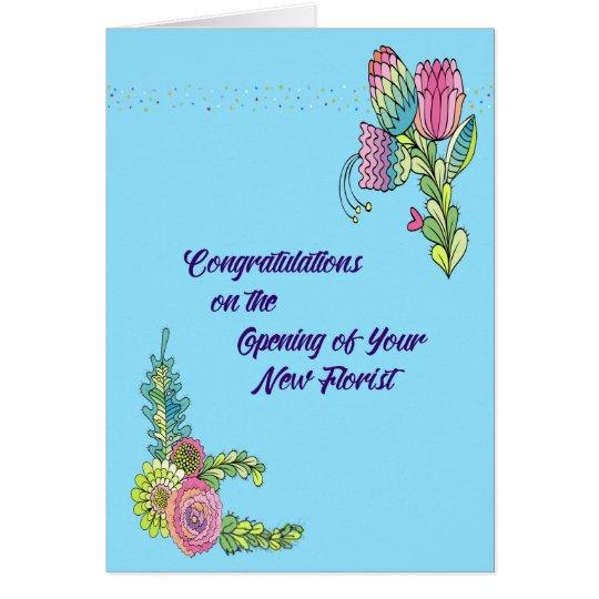 Business Card Congratulations New Florist