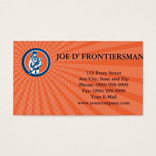 Business card Davy Crockett American Frontiersman