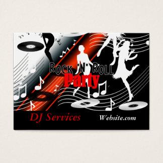 Business Card DJ Disc Jockey Retro Music Party