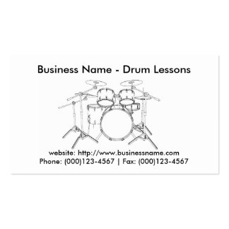 Business Card Drum Lessons