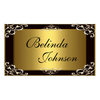 Business Card Elegant Black Gold Elite