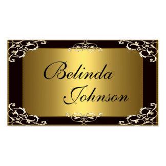 Business Card Elegant Black Gold Elite