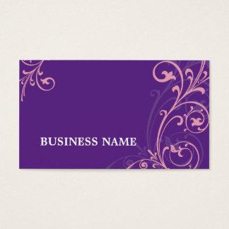 BUSINESS CARD elegant flourish pink purple