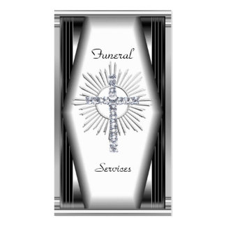 Business Card Elegant Funeral Services Chrome Elit Business Card Templates