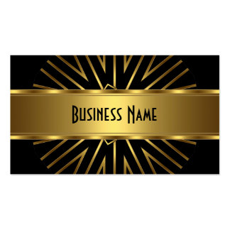 Business Card Elegant Gold Abstract on Black