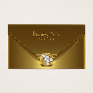 Business Card Elegant Wild Gold Black Purse