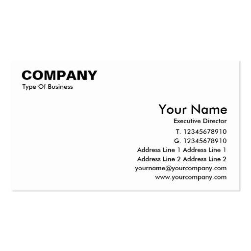 Business Card English Stype