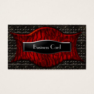 Business Card Exotic African Black Red Metal