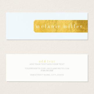 Business Card - Foil Label Blue