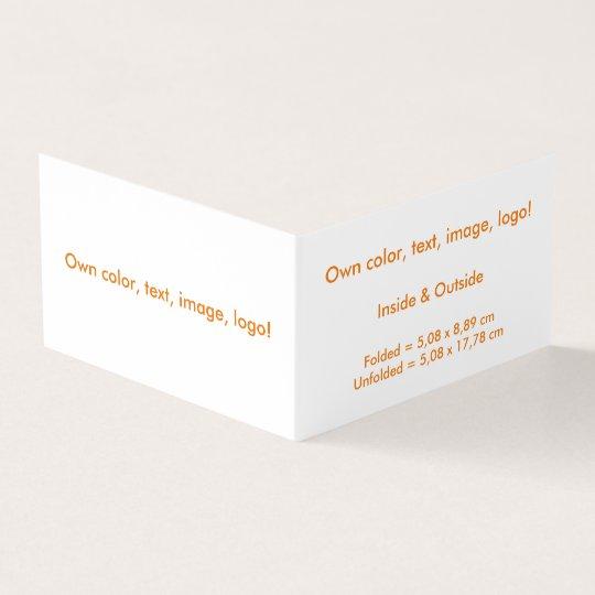 Business Card Folded Book H uni White -