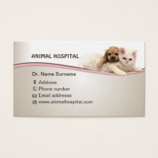 business card for animal hospital doctor