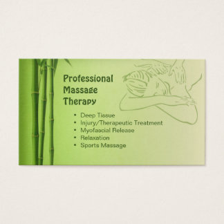 Business card  for Certified Massage Therapist