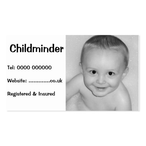 Business card for childcare business card