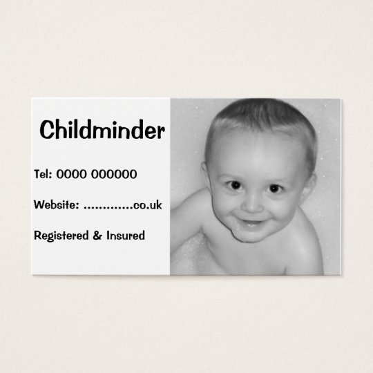 Business card for childcare