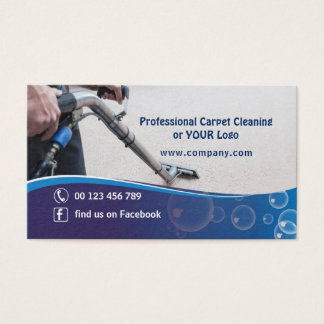 Business card for Cleaning Carpet Company