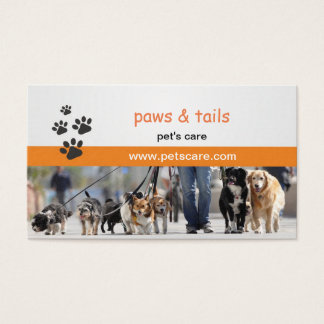 business card for dog trainers
