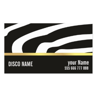 business card for nightclub manager