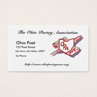 Business Card for Ohio Poetry Associaton Members